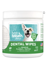 TropiClean TropiClean Fresh Breath Dental Dog Wipes, 50 count