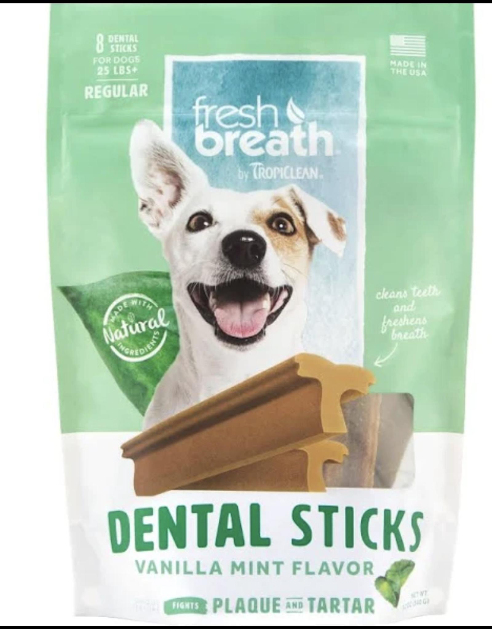 TropiClean TropiClean Fresh Breath Advanced Cleaning Rawhide-Free Regular Dental Dog Treats, 8 count