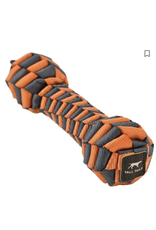 "Tall Tails Tall Tails Braided Bone Orange Dog Toy 7"""