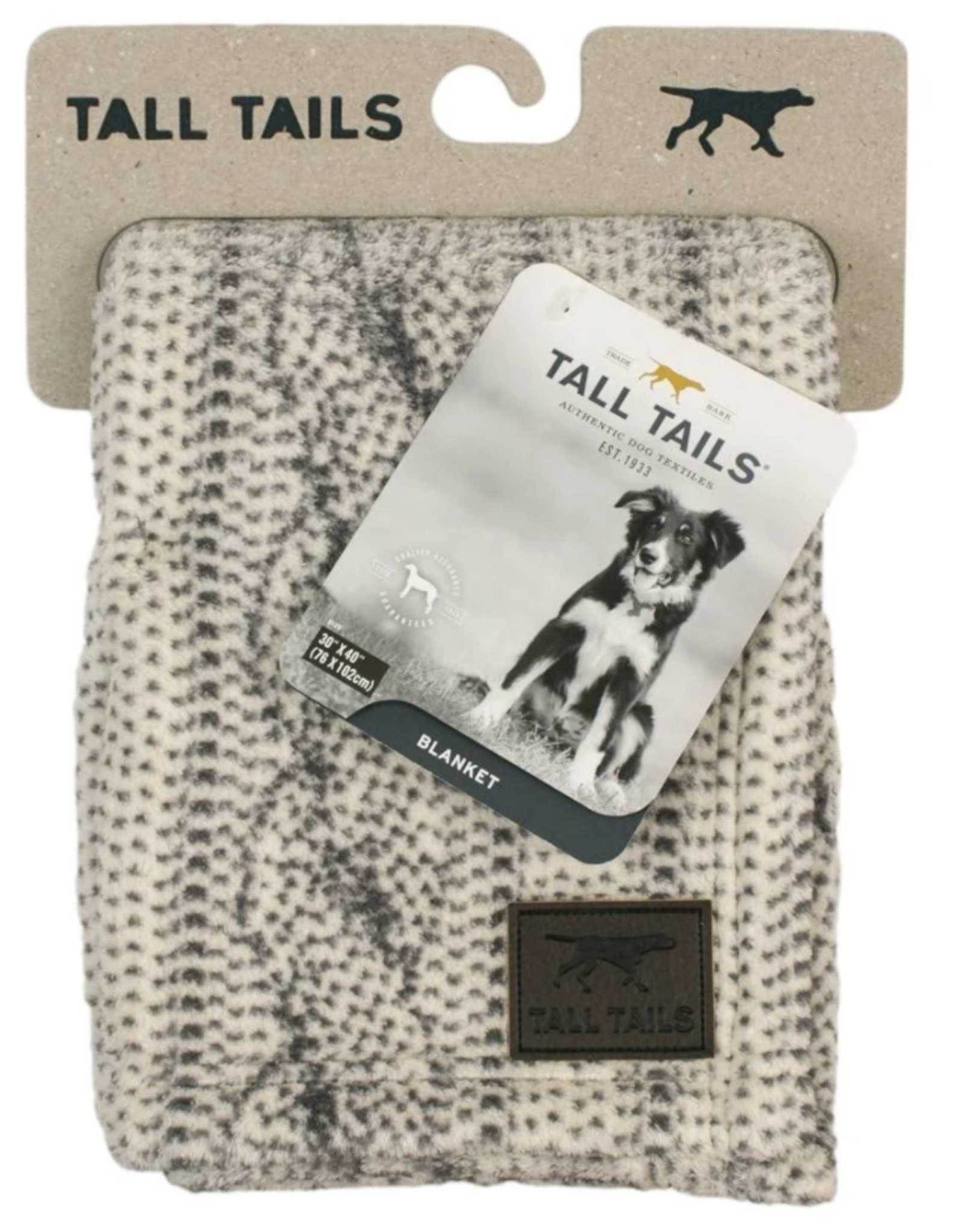 Tall Tails CABLE KNIT PRINT DOG BLANKET 30X40