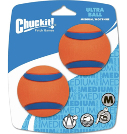 Chuckit Chuckit! Ultra Rubber Ball Tough Dog Toy  2PK