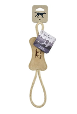 Tall Tails NATURAL WOOL BONE TUG TOY