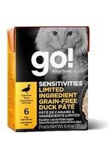 GO! Go! - Sensitive LID GF Duck Pate Cat 6.4oz