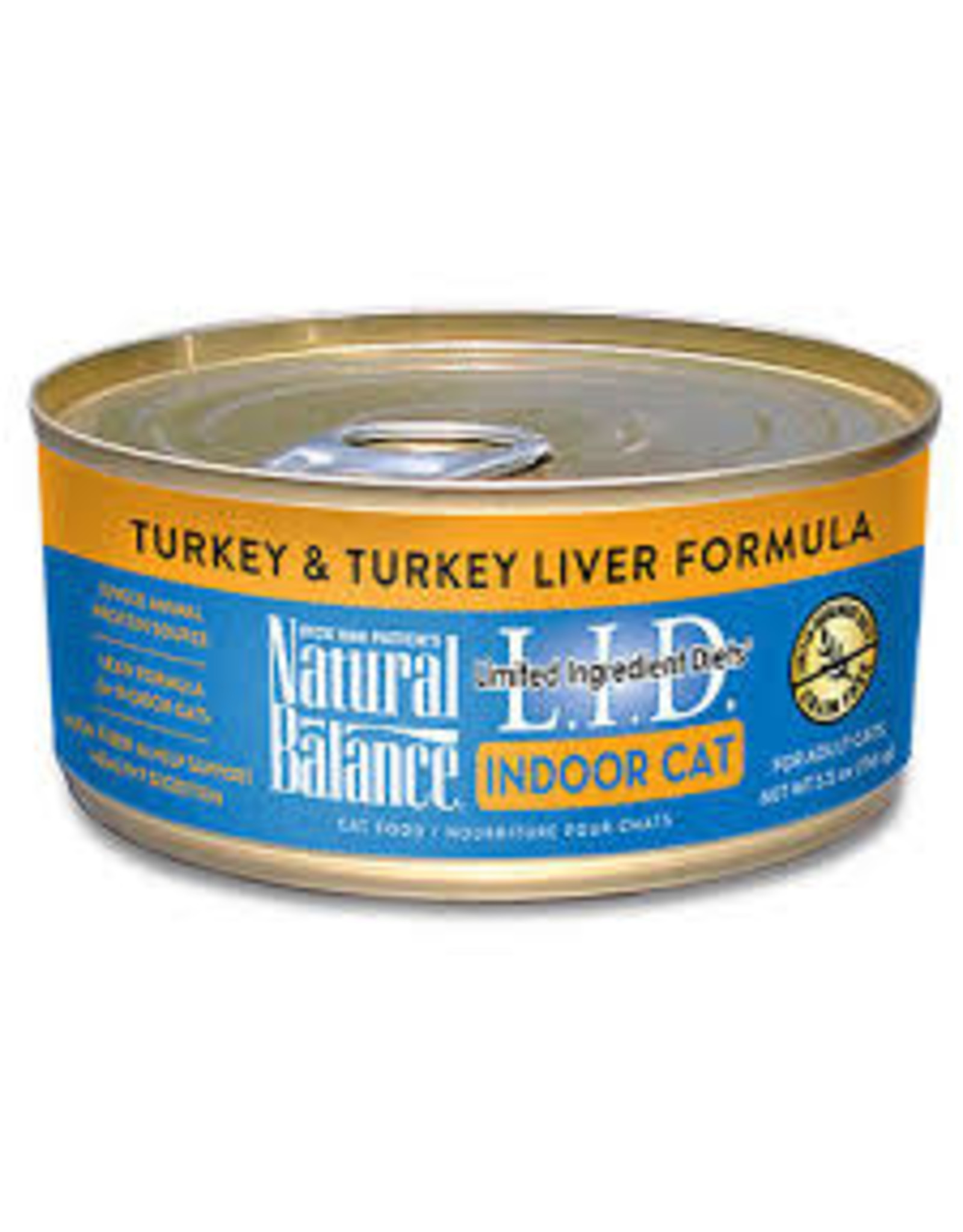 Natural Balance Natural Balance LID Indoor Turkey & Turkey Liver 5.5oz