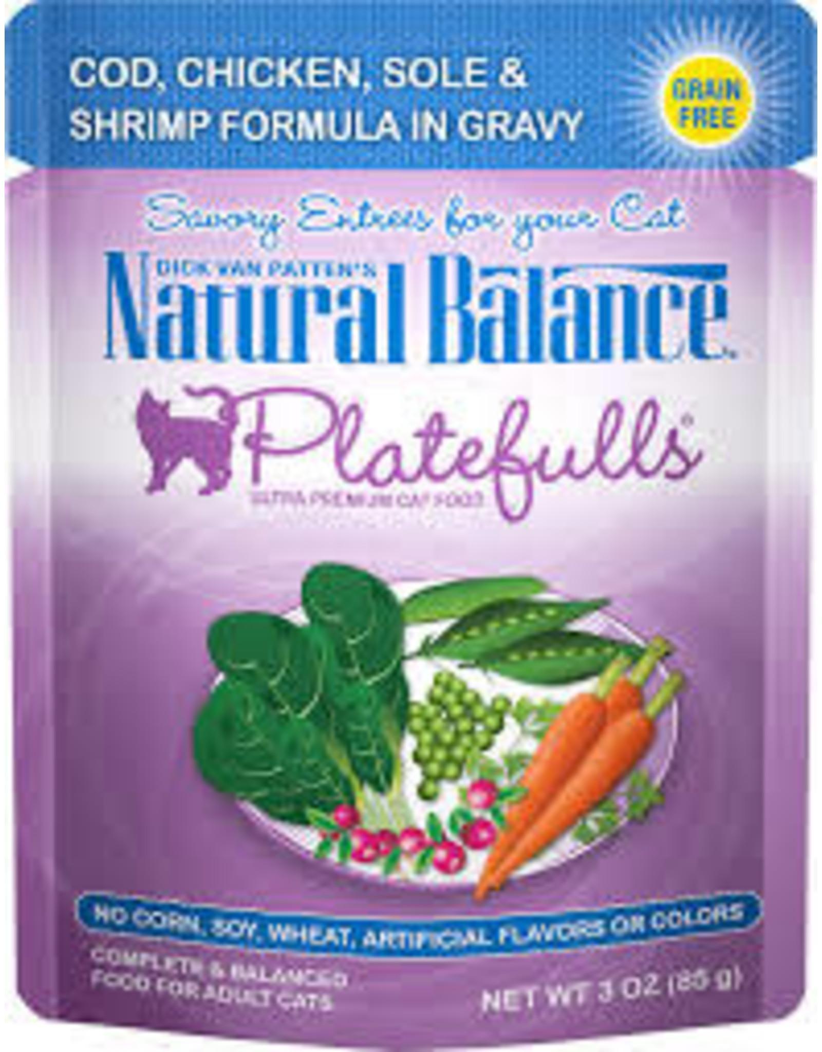 Natural Balance Natural Balance - Cod Chicken Sole Shrimp  in Gravy 3oz