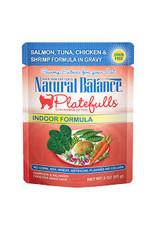 Natural Balance Natural Balance - Indoor Salmon Tuna Chicken Shrimp in Gravy 3oz