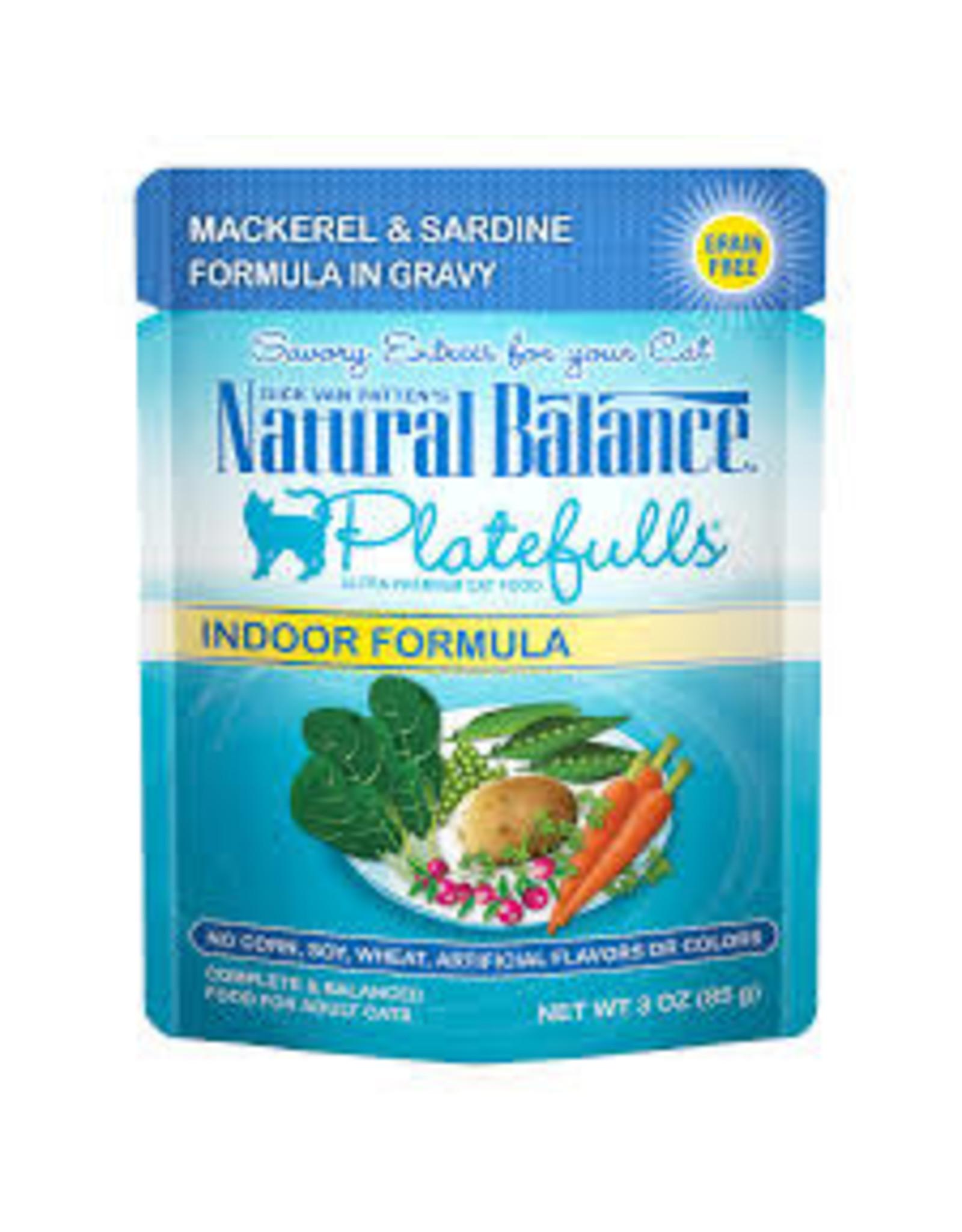 Natural Balance Natural Balance - Indoor Mackrel & Sardine in Gravy 3oz