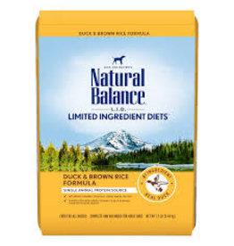 Natural Balance Natural Balance - LID Duck & Brown Rice Adult Dog