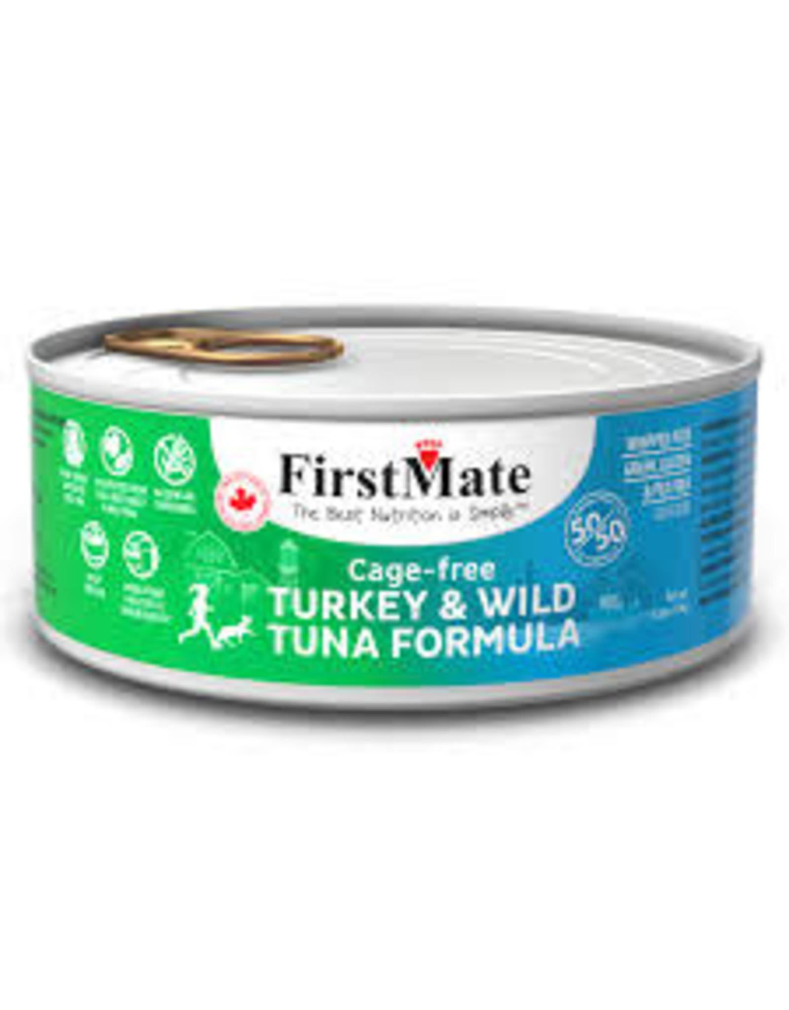 FirstMate FirstMate - GF 50/50 Cage Free Turkey/Wild Tuna Cat 5.5oz