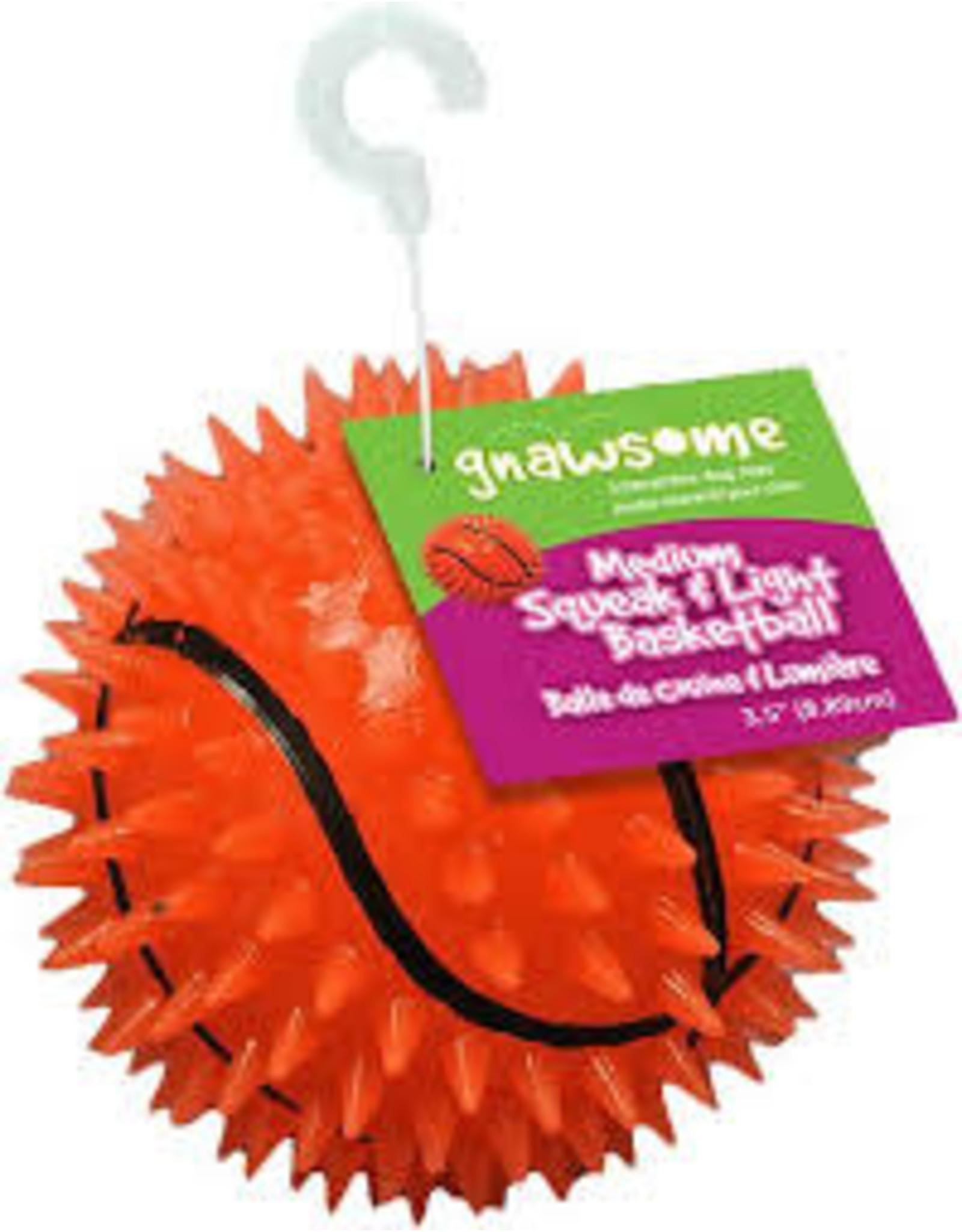 Gnawsome Gnawsome - Squeaker & Light Basketball