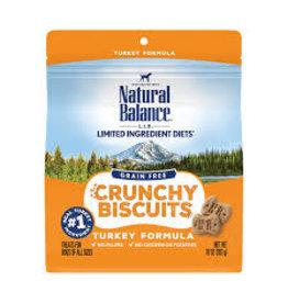Natural Balance Natural Balance - GF Crunchy Biscuits Turkey Dog 10oz