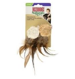 JW Pets Kong - Naturals Crinkle Ball with Feathers