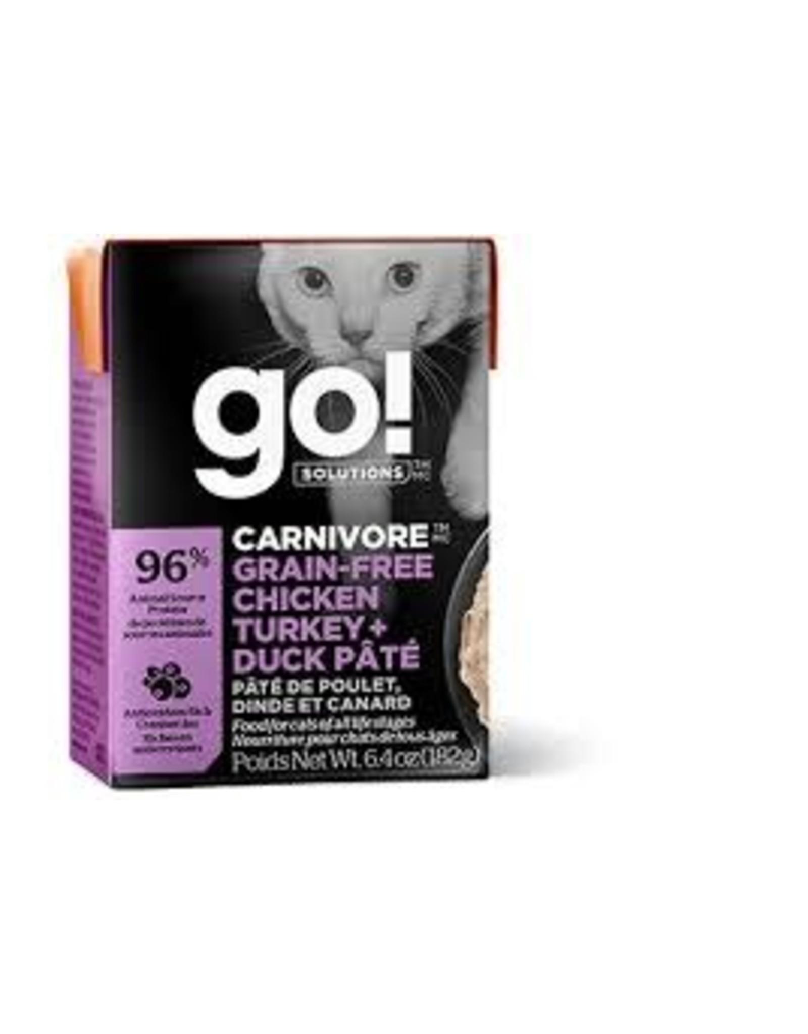 GO! Go! - Carnivore Chicken, Turkey & Duck Cat 6.4oz