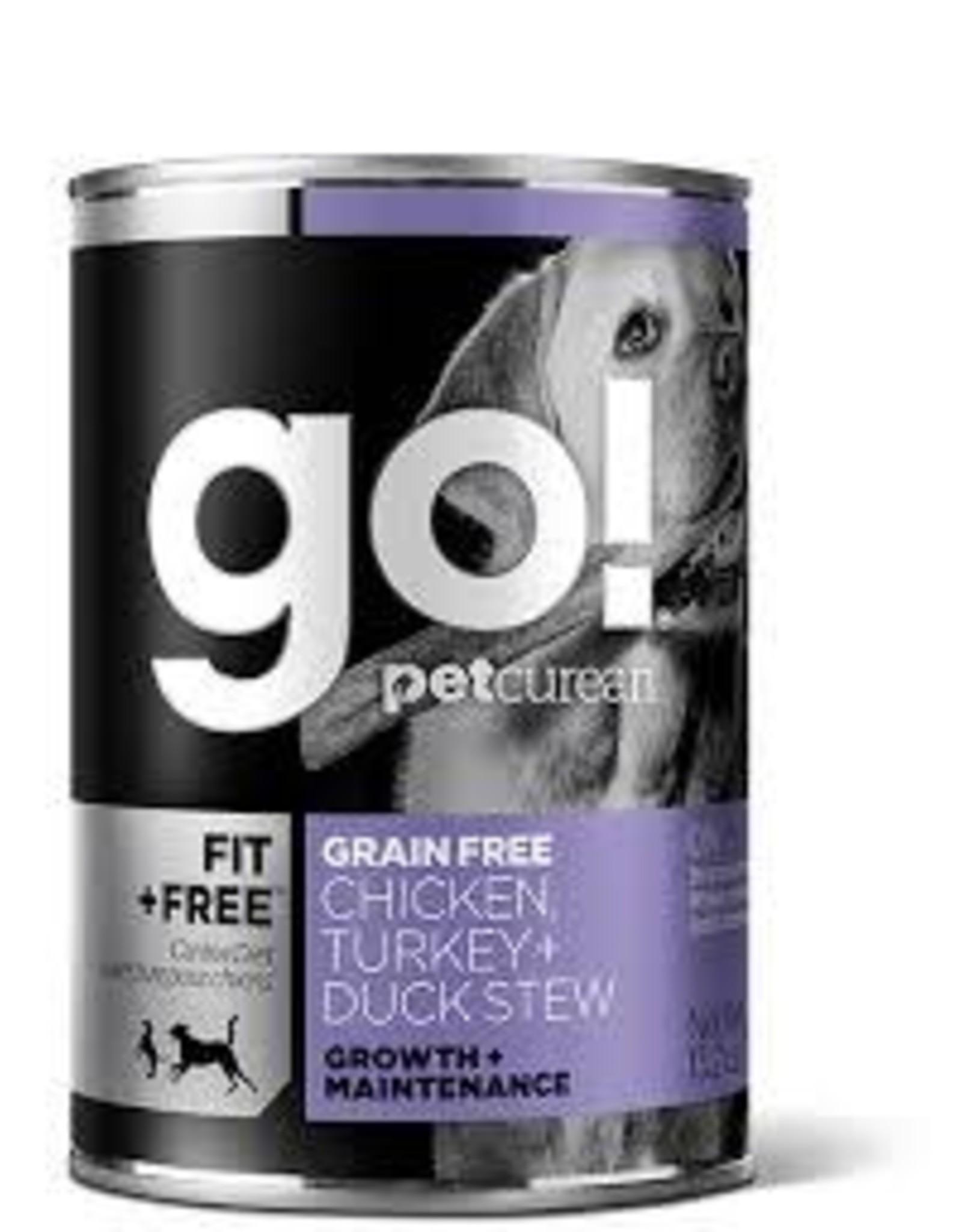 GO! Go! - FIt & Free Chicken & Turkey Duck Stew Dog 13.2oz