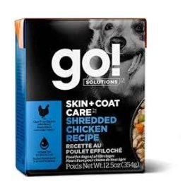 GO! Go! - Skin & Coat Shredded Chicken Dog 12.5oz