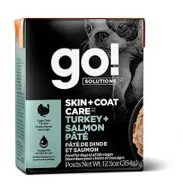 GO! Go! - Skin & Coat Turkey & Salmon Pate Dog 12.5oz