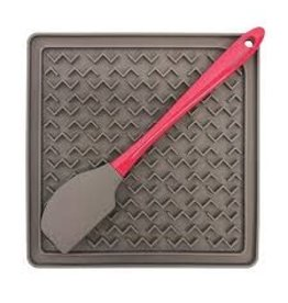 Messy Mutts Messy Mutts - Silicone Therapeutic Feeding Mat with Spatula