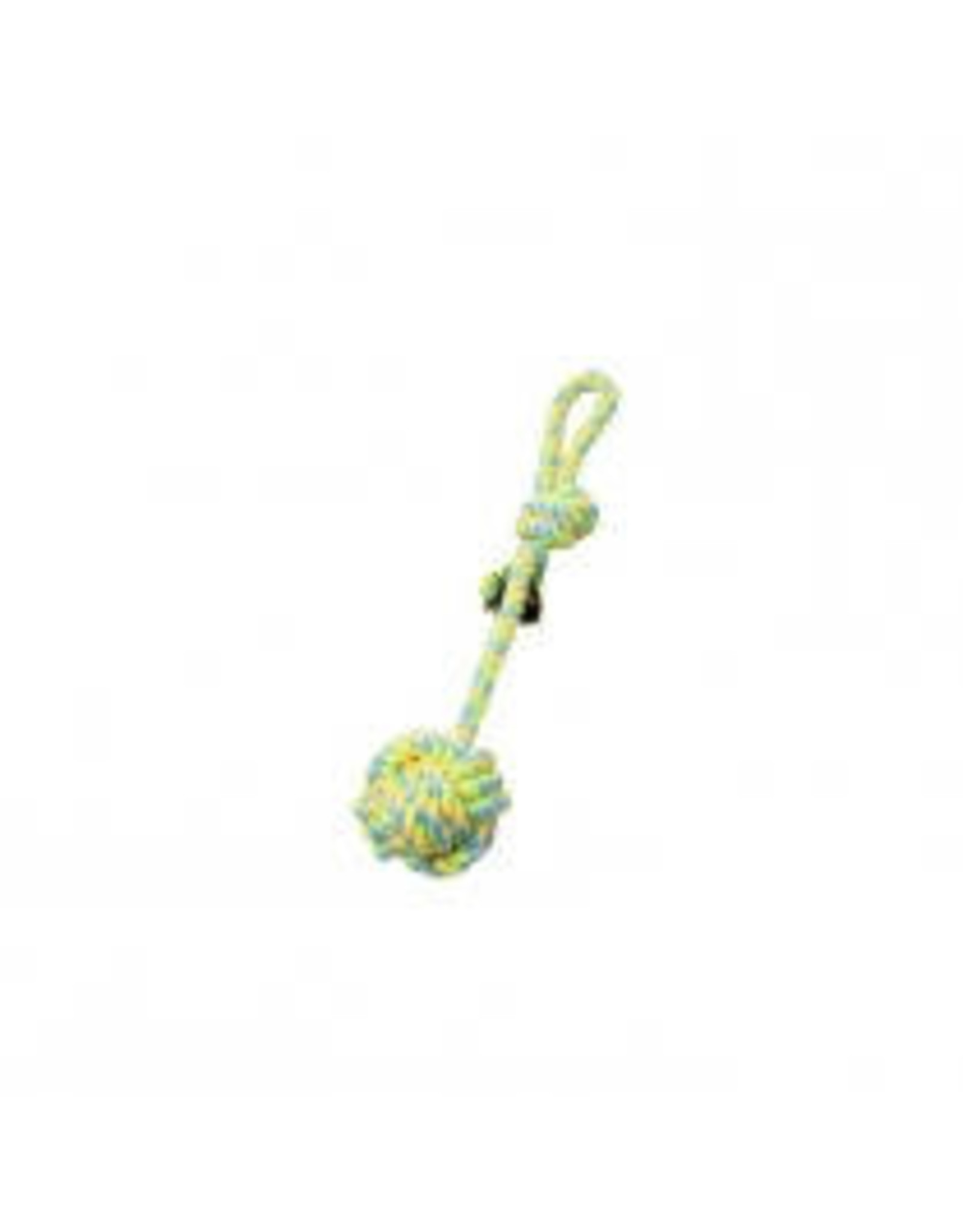 Budz Budz - Rope with Monkey Fist  with Stem & Loop  Green & Yellow