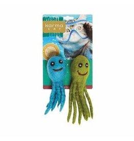 Dharma Dog Karma Dharma Dog Karma Cat - Toy - Octopus - 2 pk