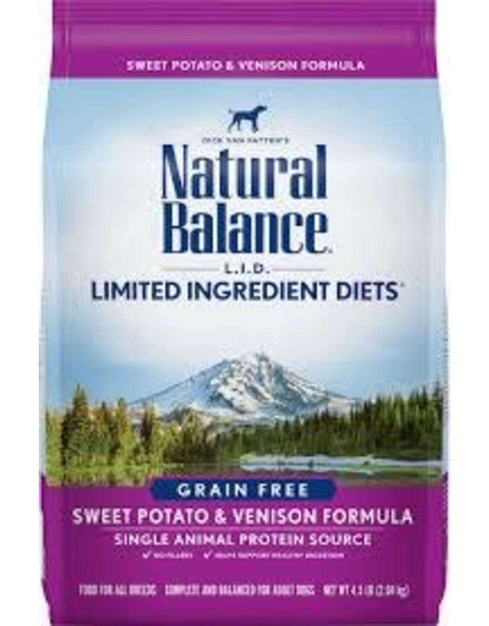 Natural Balance Natural Balance - LID Sweet Potato & Venison Dog 26lb