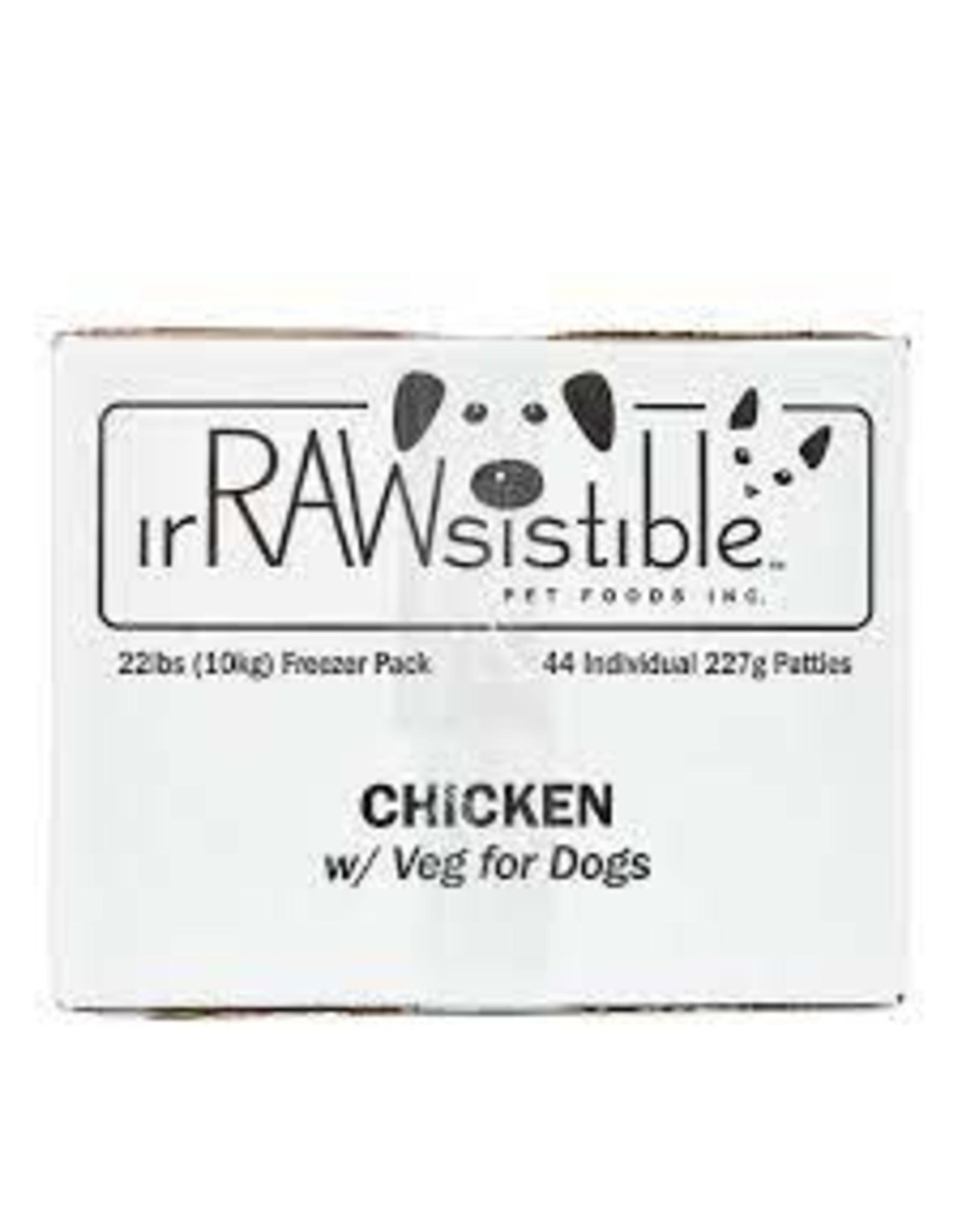 Irrawsistible Irrawsistible - Chicken w/Veg 10kg (22lb)