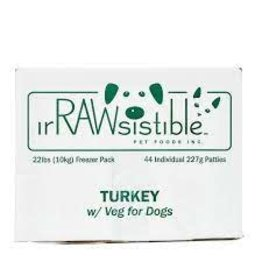 Irrawsistible Irrawsistible - Turkey w/Veg 10kg (22lb)