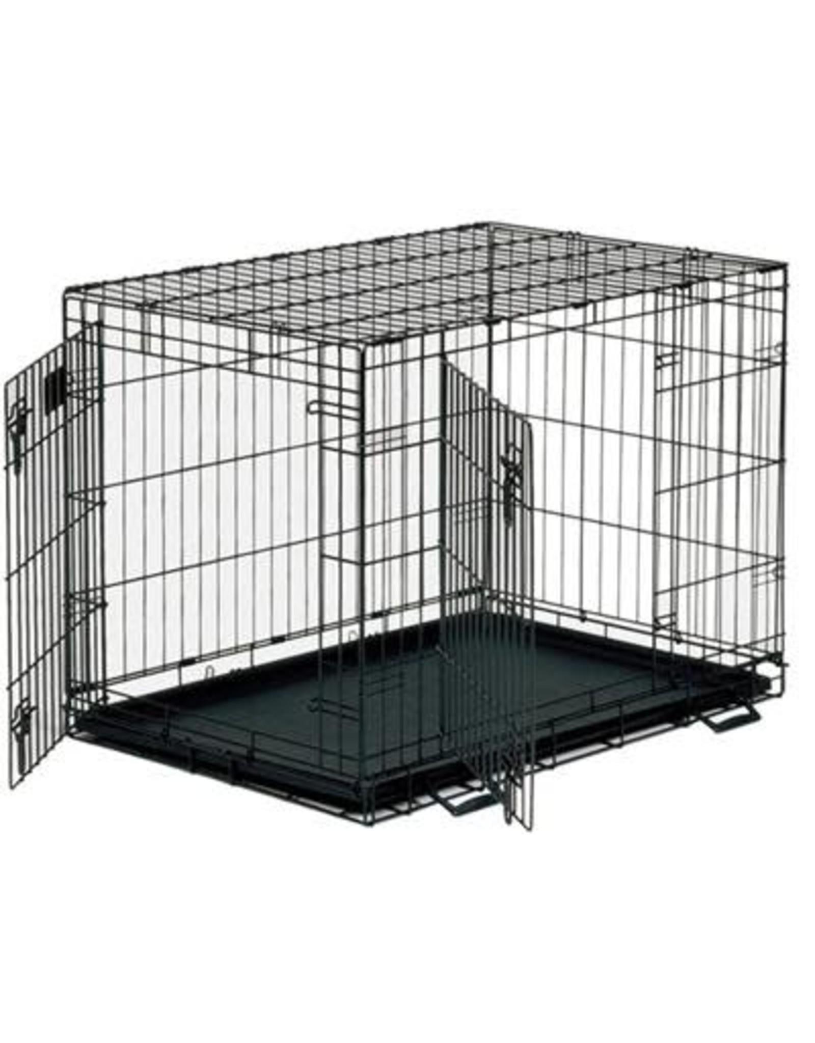 Unleashed Unleashed - Double Door Crate Epoxy Black