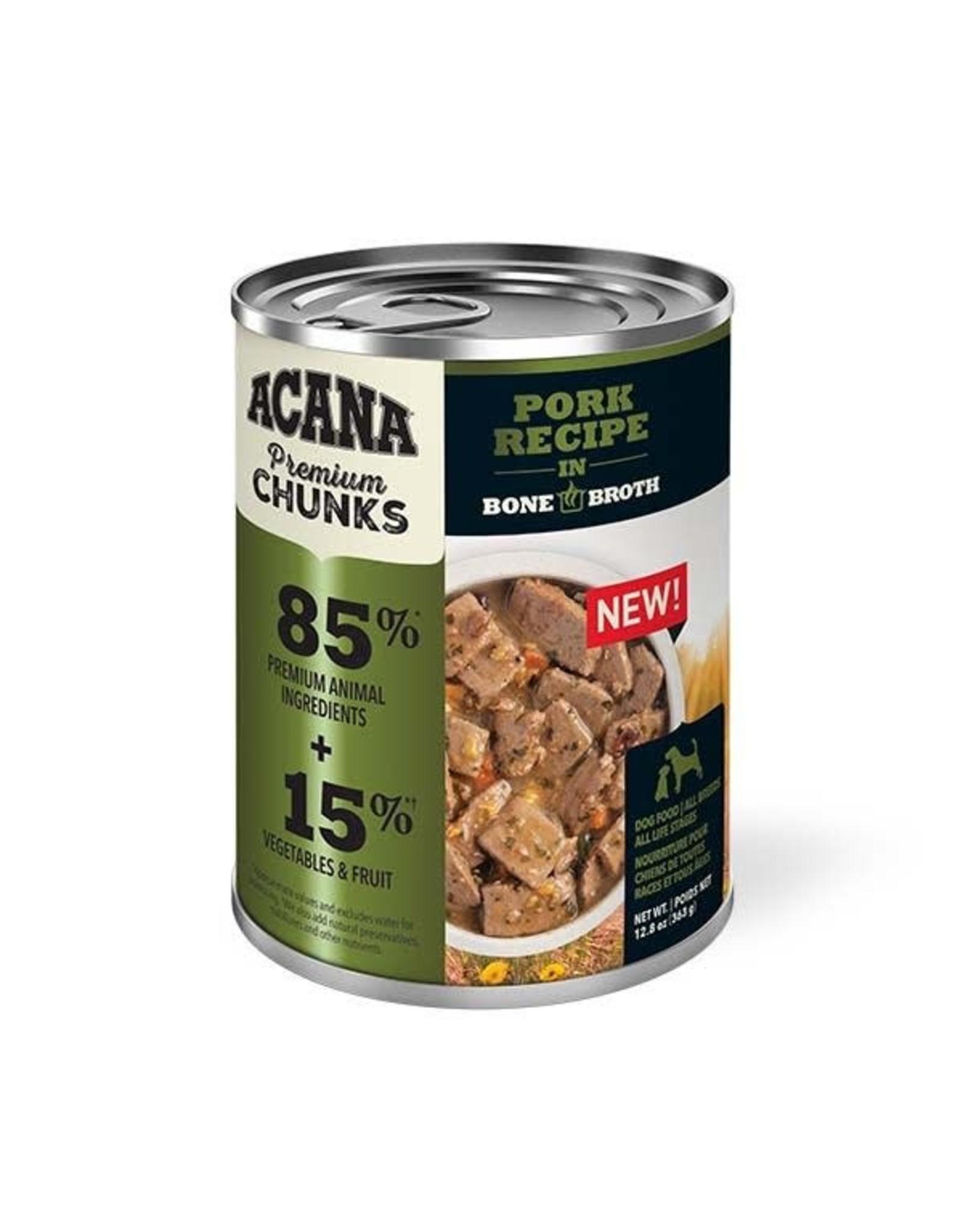Acana Acana Premium Chunks Wet Dog Food - Pork Recipe in Bone Broth