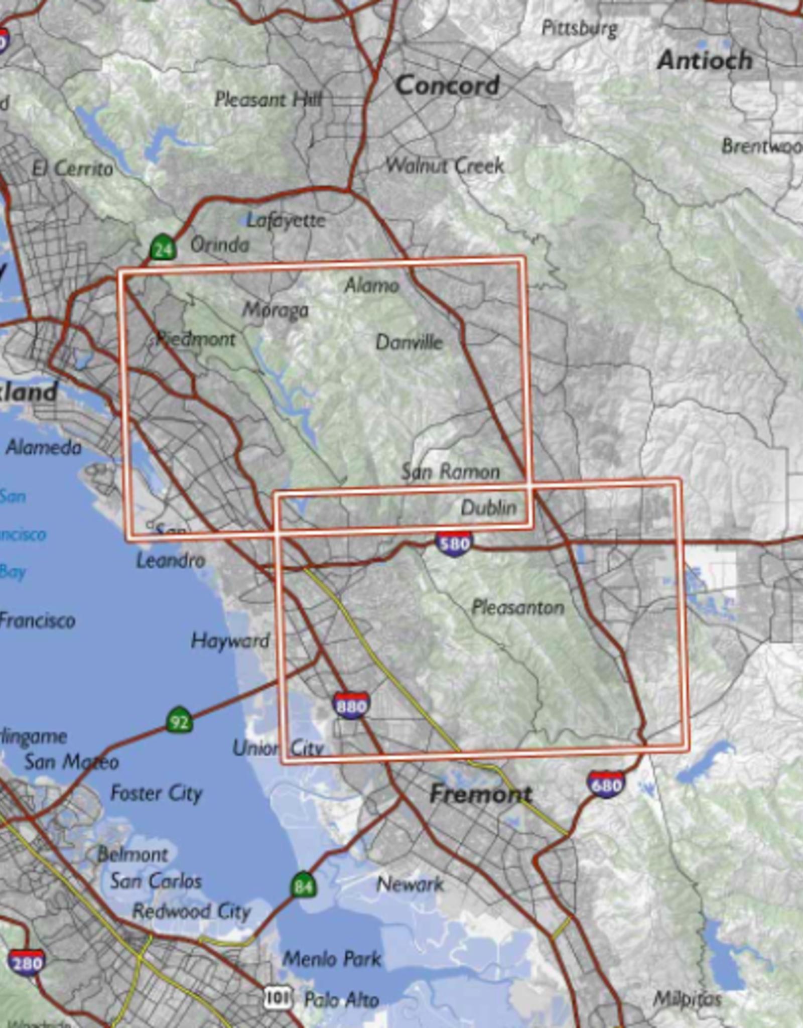 Bay Area Trail Map: Oakland Hills and Pleasanton Ridge