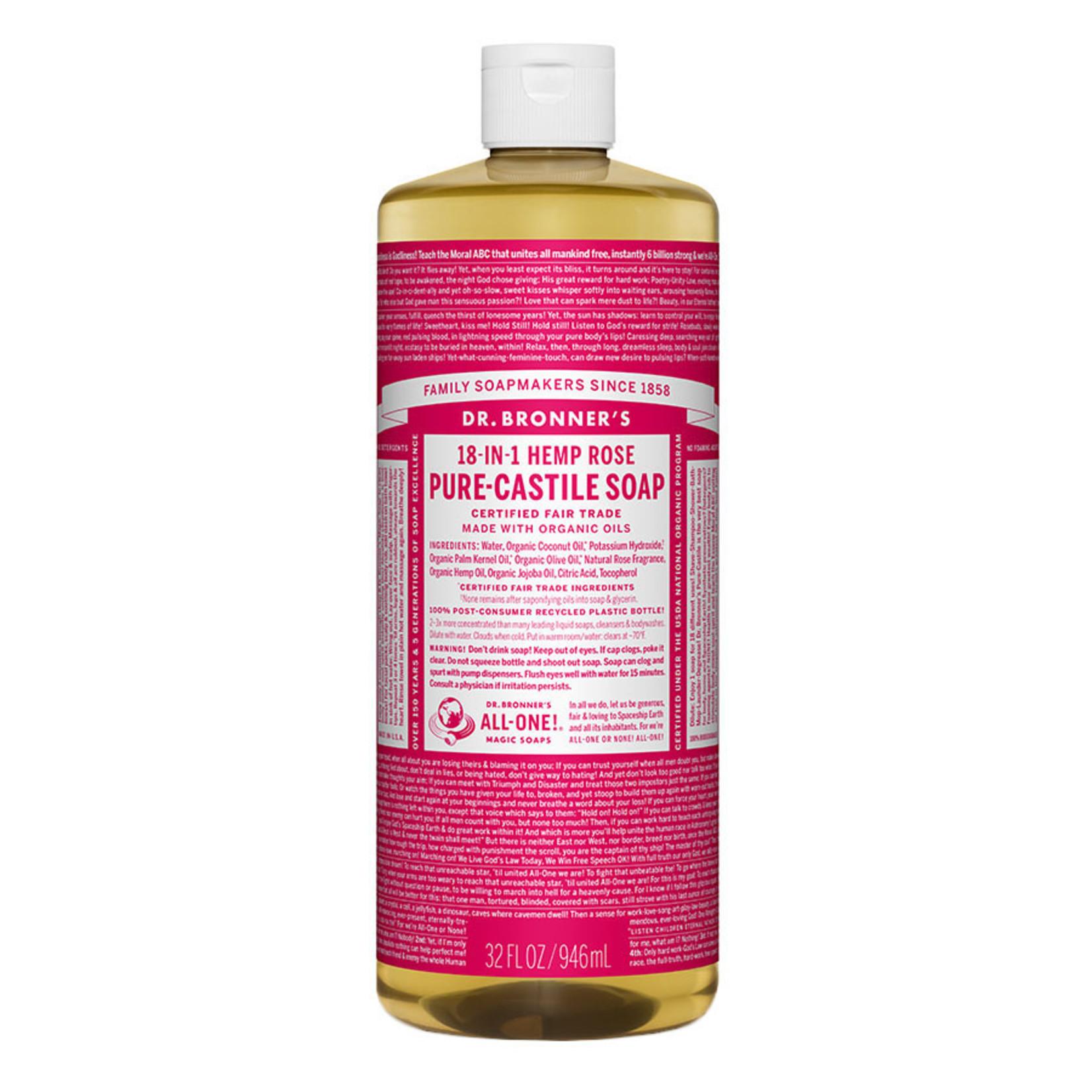 Dr. Bronner's 18-in-1 Pure-Castile Liquid Soap