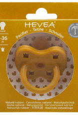 Hevea Round Pacifier, Yellow, 3-36 months
