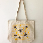 Noteworthy Honey Bees Tote Bag