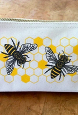 Noteworthy Honey Bees Zip Pouch