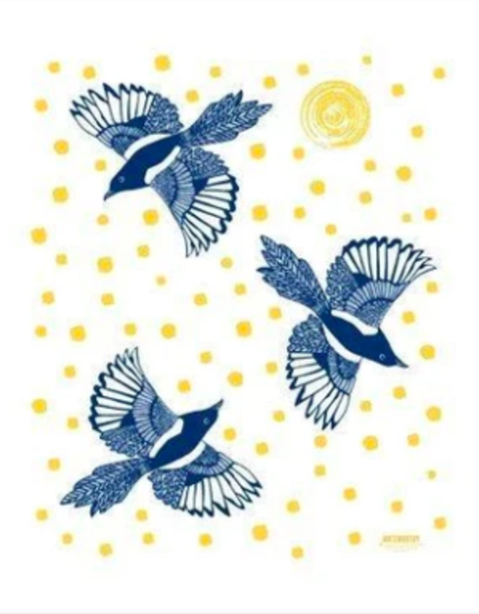 Noteworthy Magpie Tea Towel