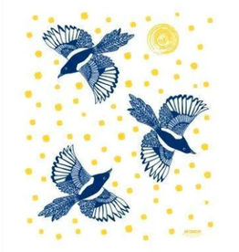 Noteworthy Magpie Tea Towel
