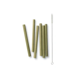 Bambu Short Bamboo Straw Set