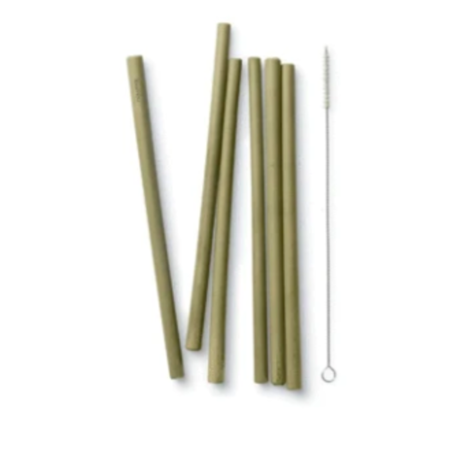 Bambu Long Bamboo Straw Set