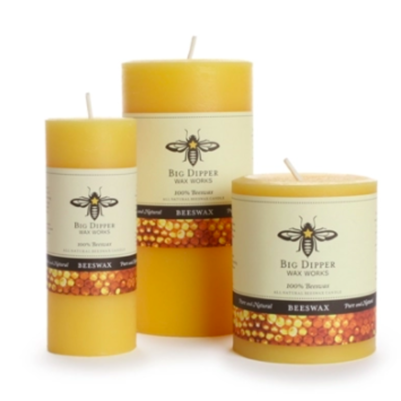 Big Dipper 100% Pure Beeswax Candles
