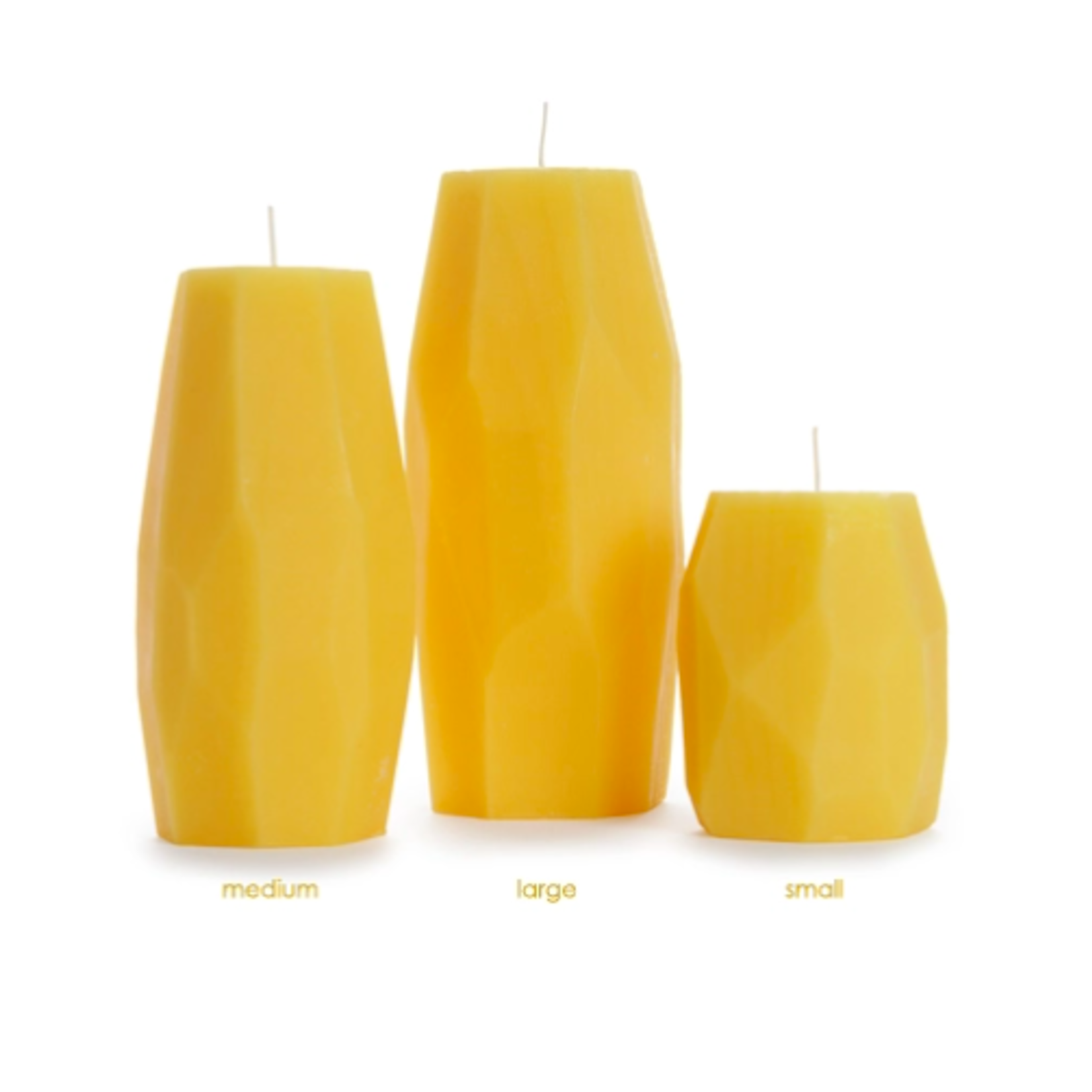 Big Dipper 100% Beeswax Faceted Pillars