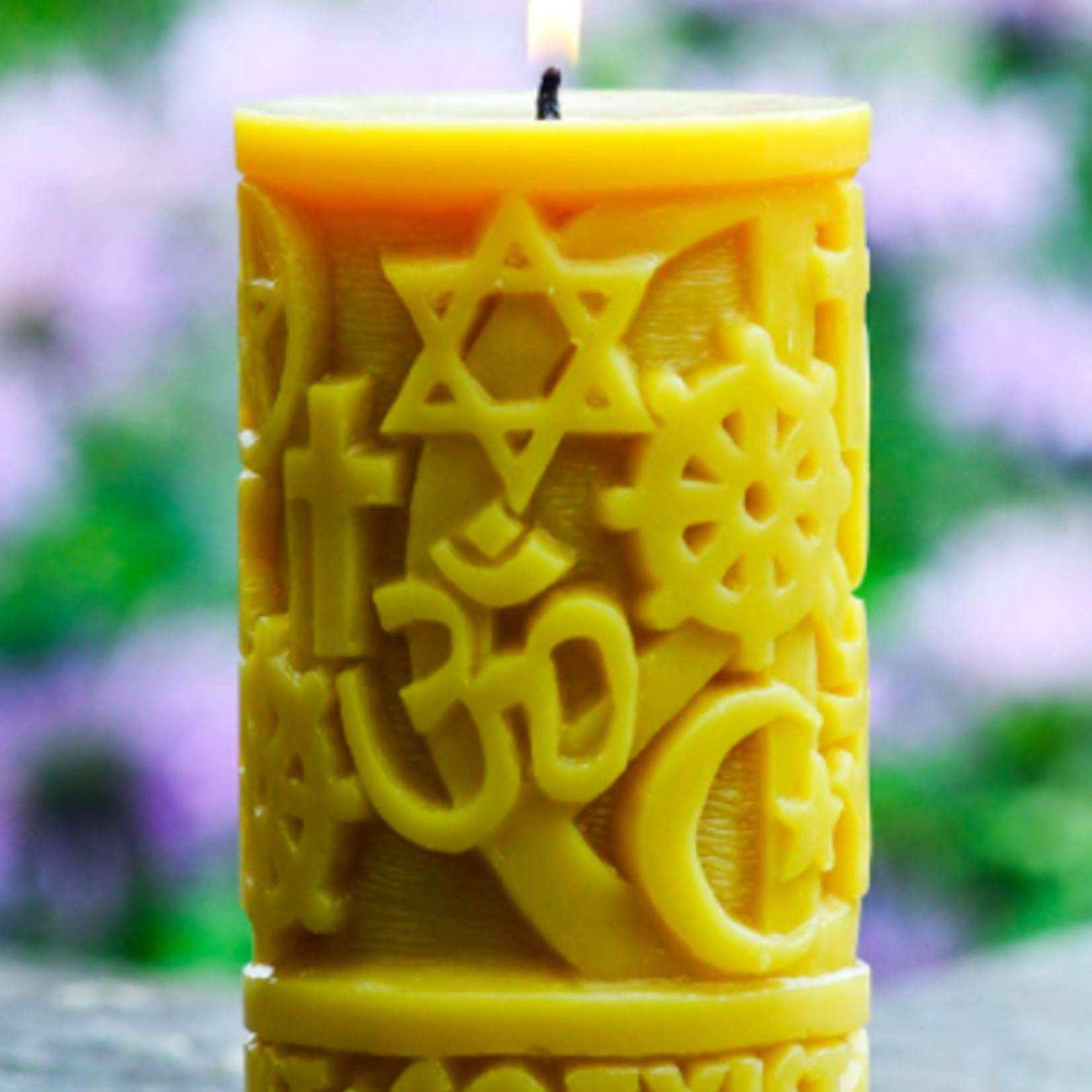 Sunbeam Coexist in Peace Candle