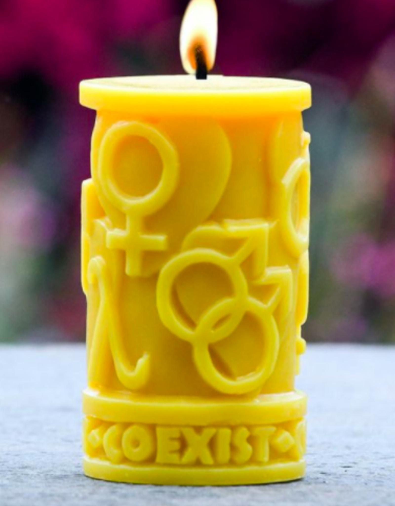 Sunbeam Coexist in Love Candle
