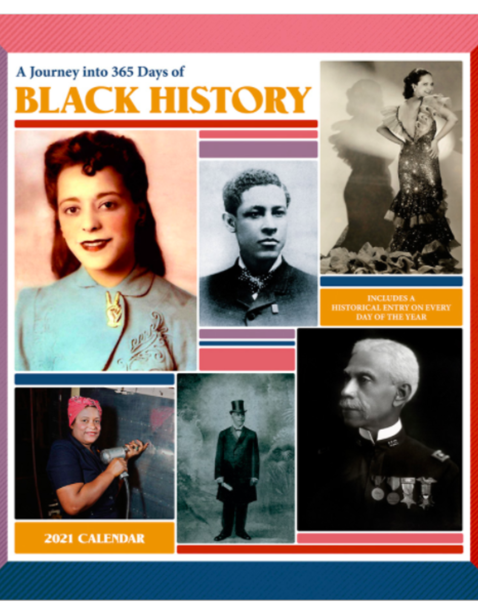 Journey into 365 Days of Black History 2021 Wall Calendar