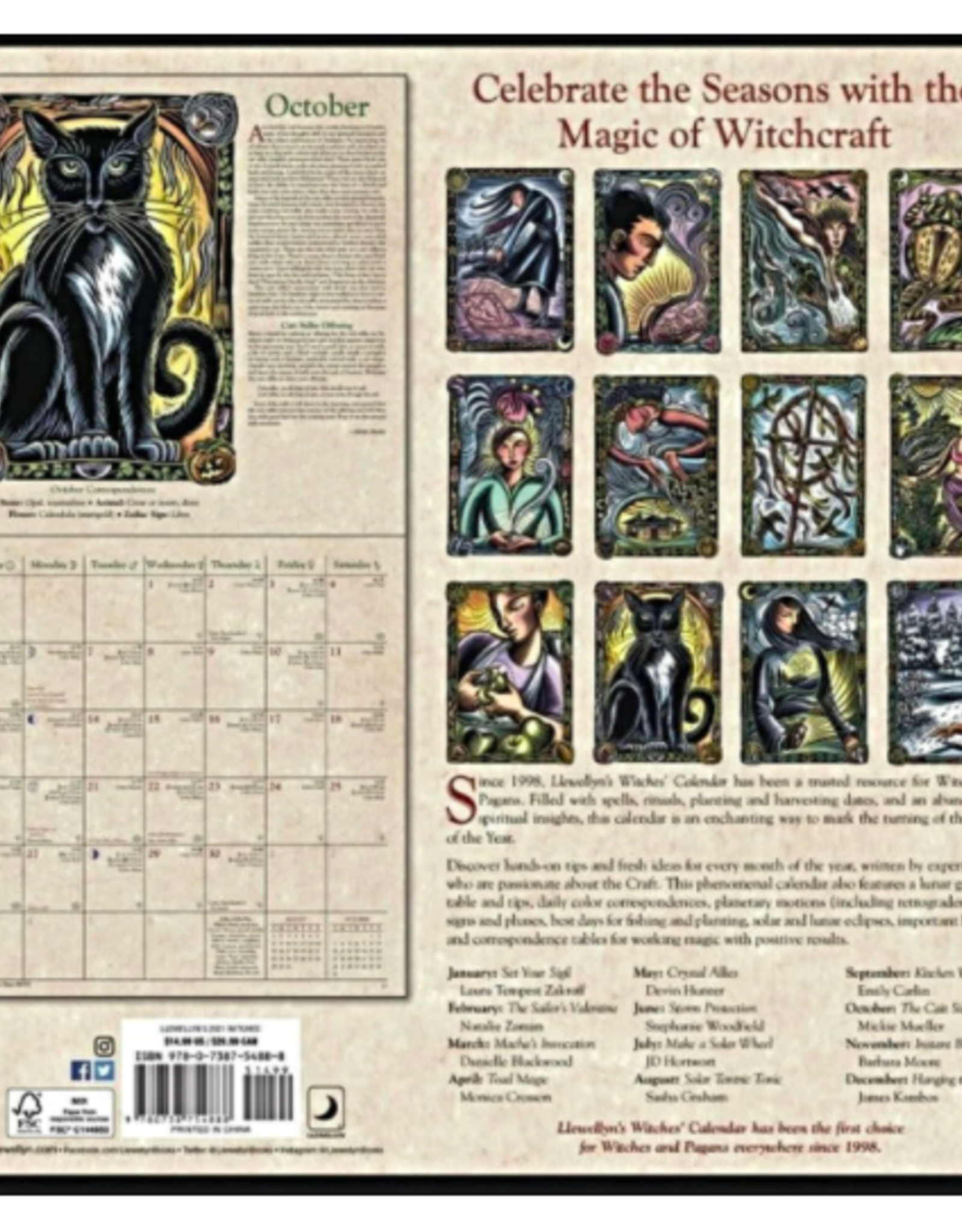 Llewellyn's Witches' 2021 Wall Calendar