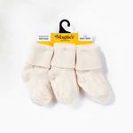 Maggie's Organic Cotton Natural Baby Anklet Sock 3-Pack