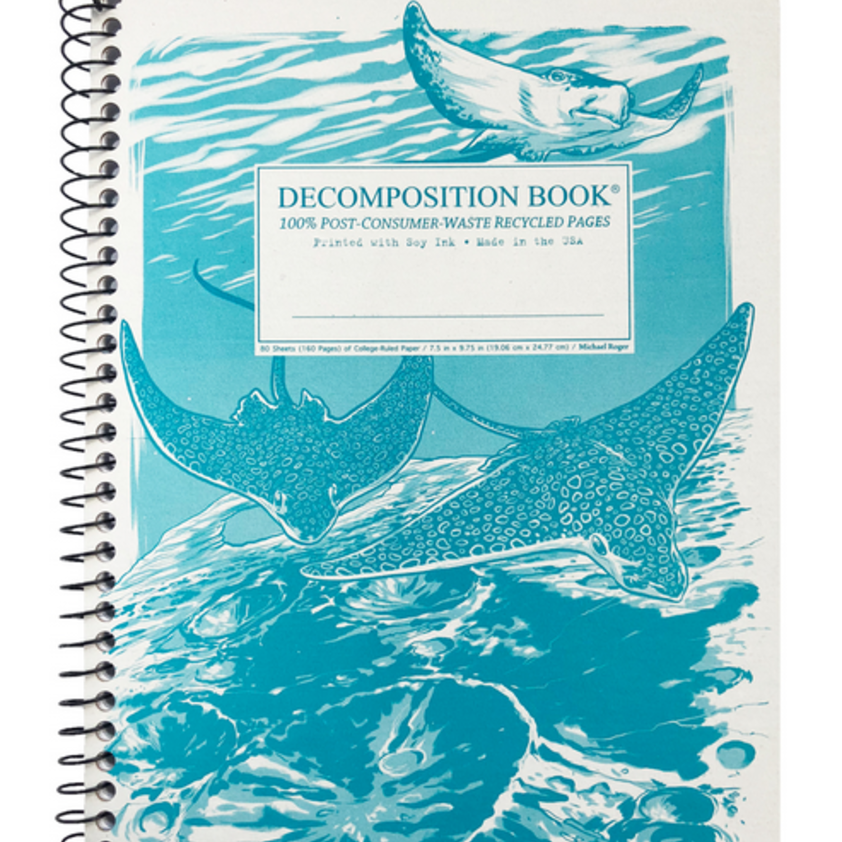 Spotted Eagle Rays Spiral Journal