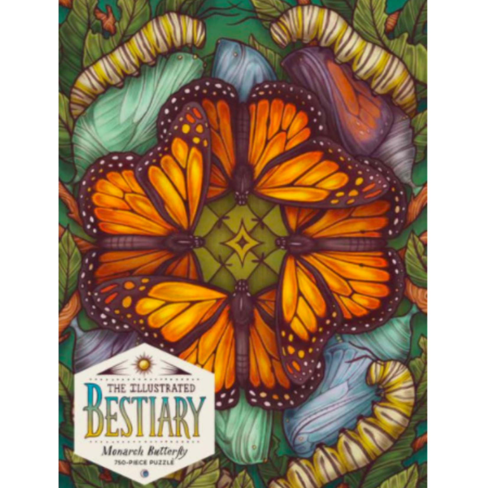 The Illustrated Bestiary: Monarch Butterfly 750 Piece Puzzle