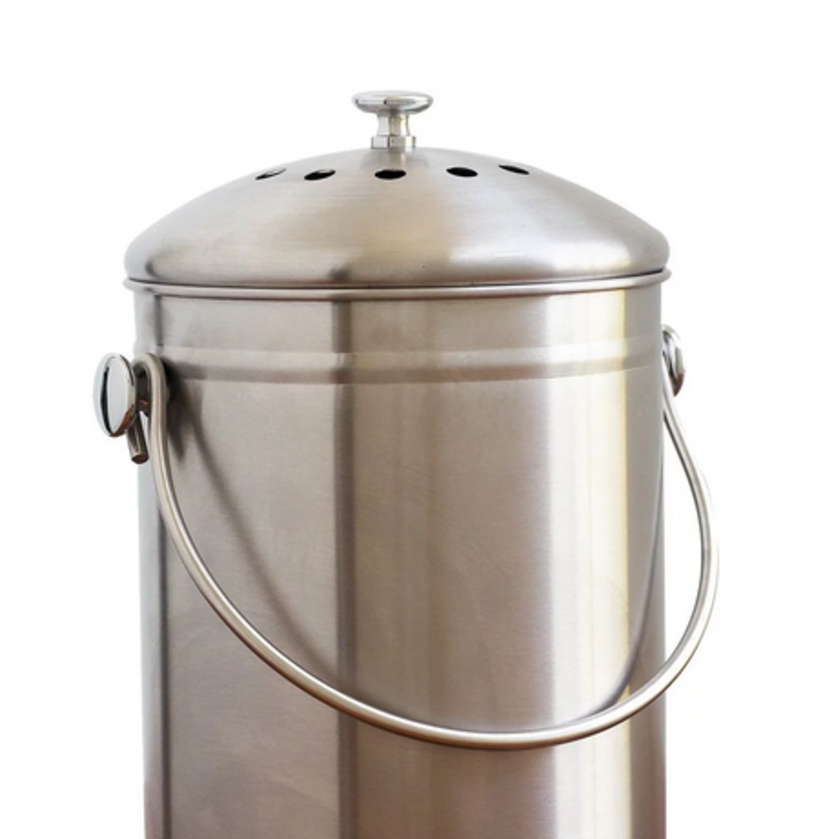 Compost Pail Stainless Steel, 1.3 gal