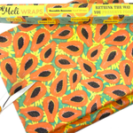Meli Wrap Bulk Roll - Tropical Papaya Print