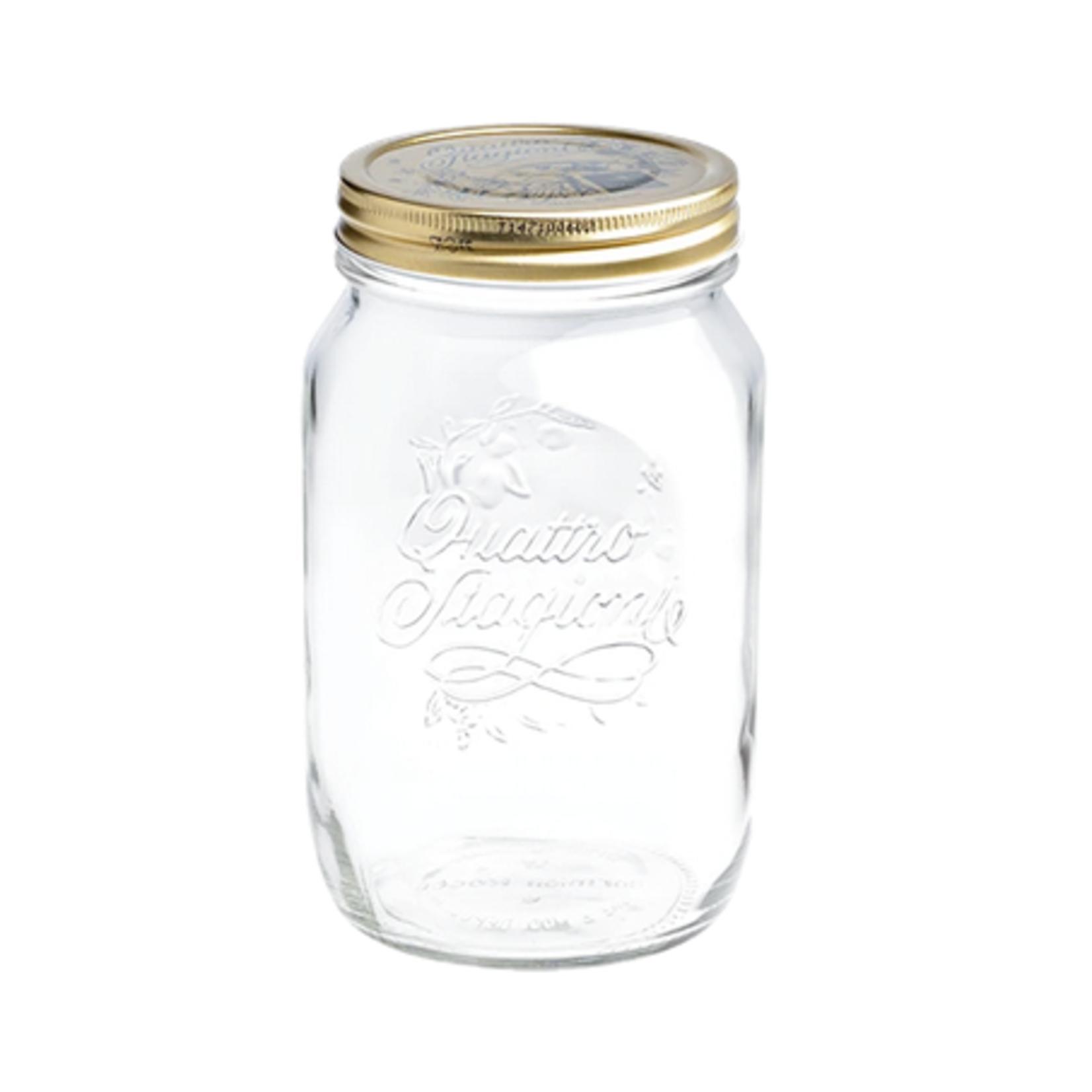 Quattro Stagioni Glass Canning Jar, 33.75 oz.