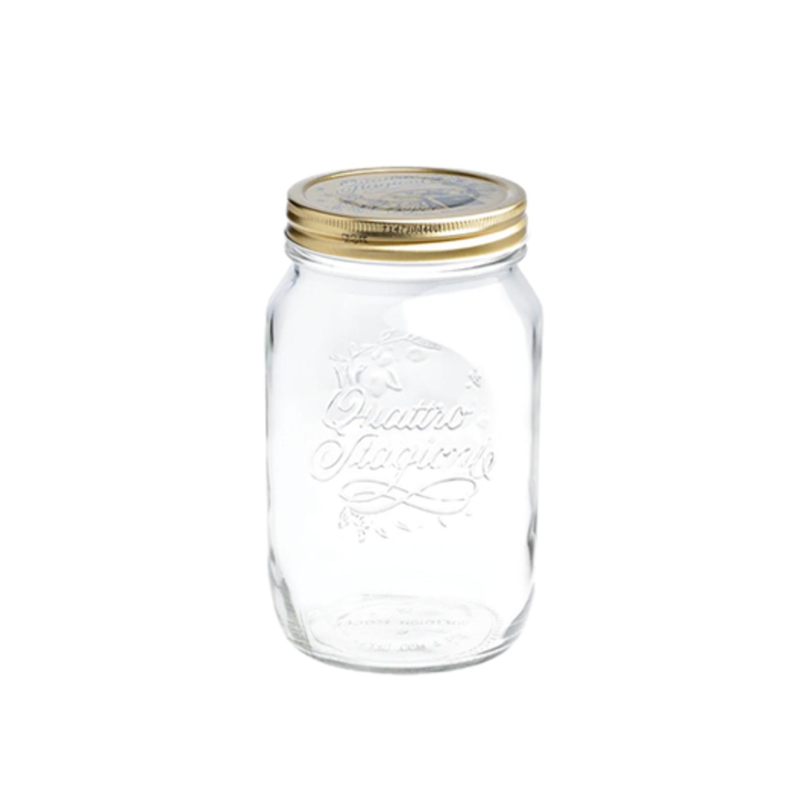 Quattro Stagioni Glass Canning Jar, 17 oz.